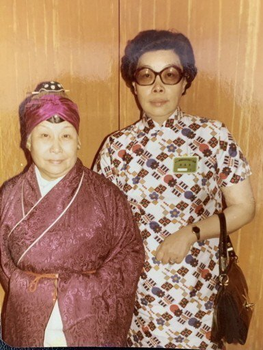 杜月笙四房姚玉蘭(左)與其女杜美霞。 圖/金祖武提供