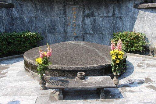 一代名伶孟小冬之墓。 記者陳宛茜/攝影