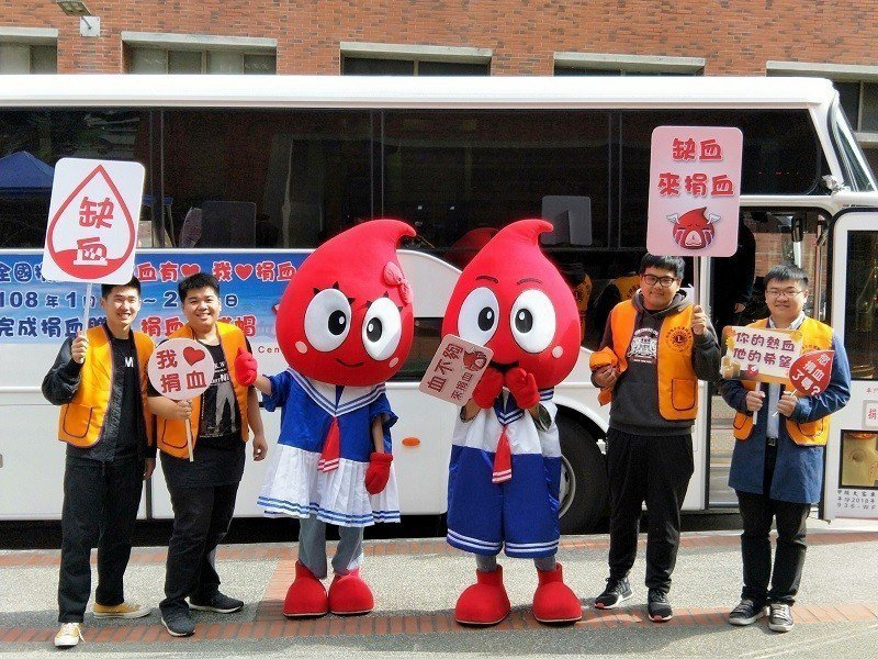 朝陽科大學子主動發起捐血活動,公益不落人後。 朝陽科大/提供