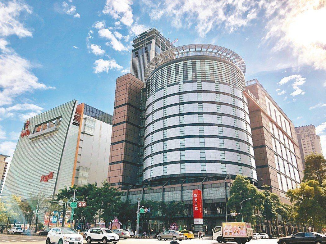 台中市地王位於七期的新光三越。 報系資料照