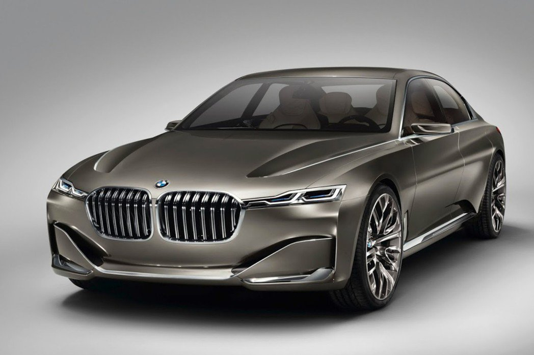 BMW Vision Future Luxury Concept在發表當時就被視為未來7-Series的設計雛形。 摘自BMW