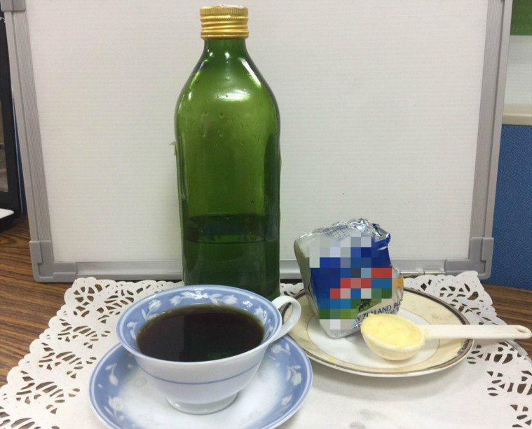 「防彈咖啡」是將椰子油、無鹽奶油和黑咖啡等比混勻調製而成,但醫師提醒長期過量飲用...