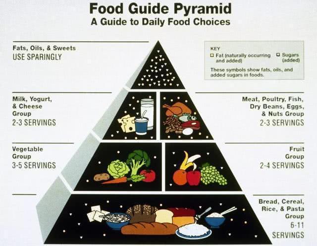 飲食金字塔 圖片取自網路