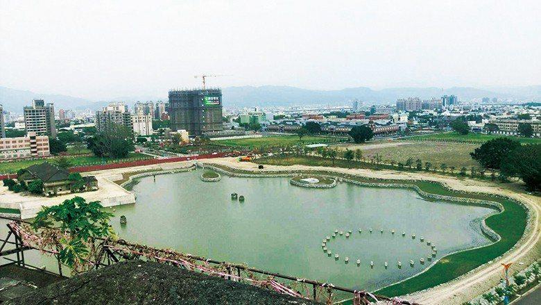 修復前的臺中營業所暨湖濱公園景觀 【圖・文化資產處】