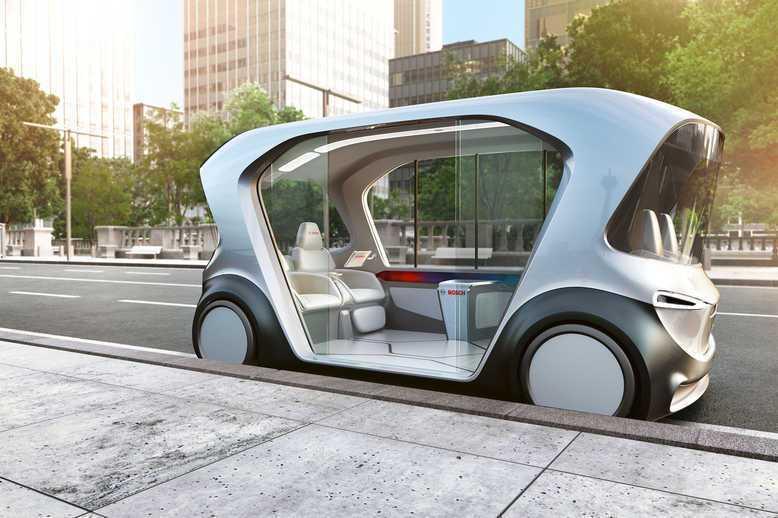 Bosch的4人用自駕小巴概念車。取自Bosch