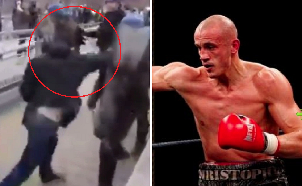 法國前輕量級拳擊冠軍戴丹傑,5日加入黃背心示威,向鎮暴警察揮拳攻擊,打得警方節節...
