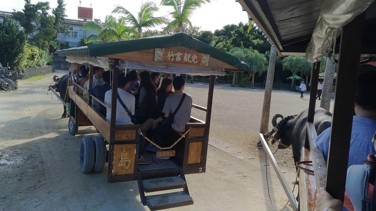 竹富島的水牛車,是當地的觀光賣點。記者楊德宜/攝影