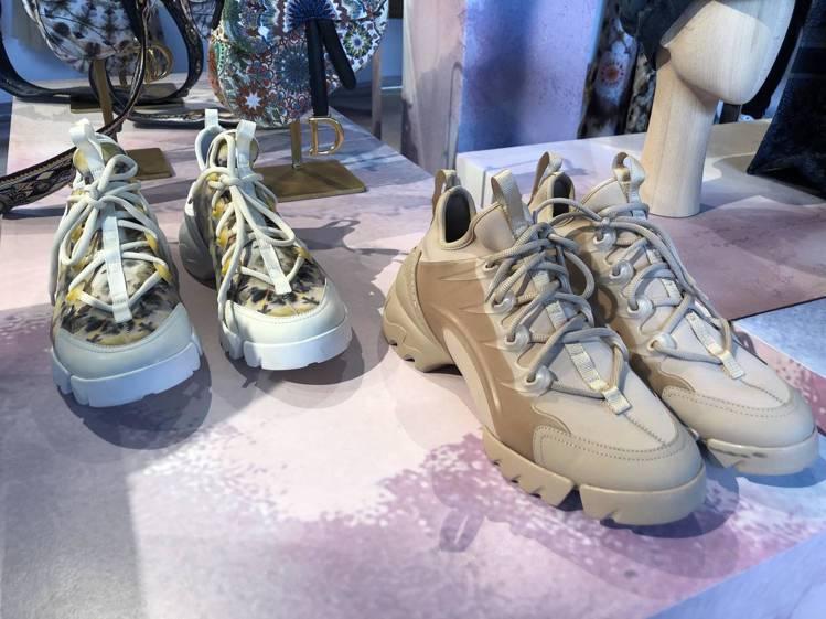 DIOR春夏推出女生穿的老爹鞋。圖/記者顏甫珉攝影
