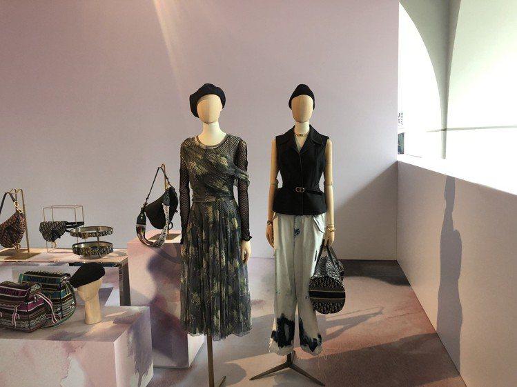 DIOR春夏女裝以舞蹈為主題,打造女人的多重面向。圖/記者顏甫珉攝影