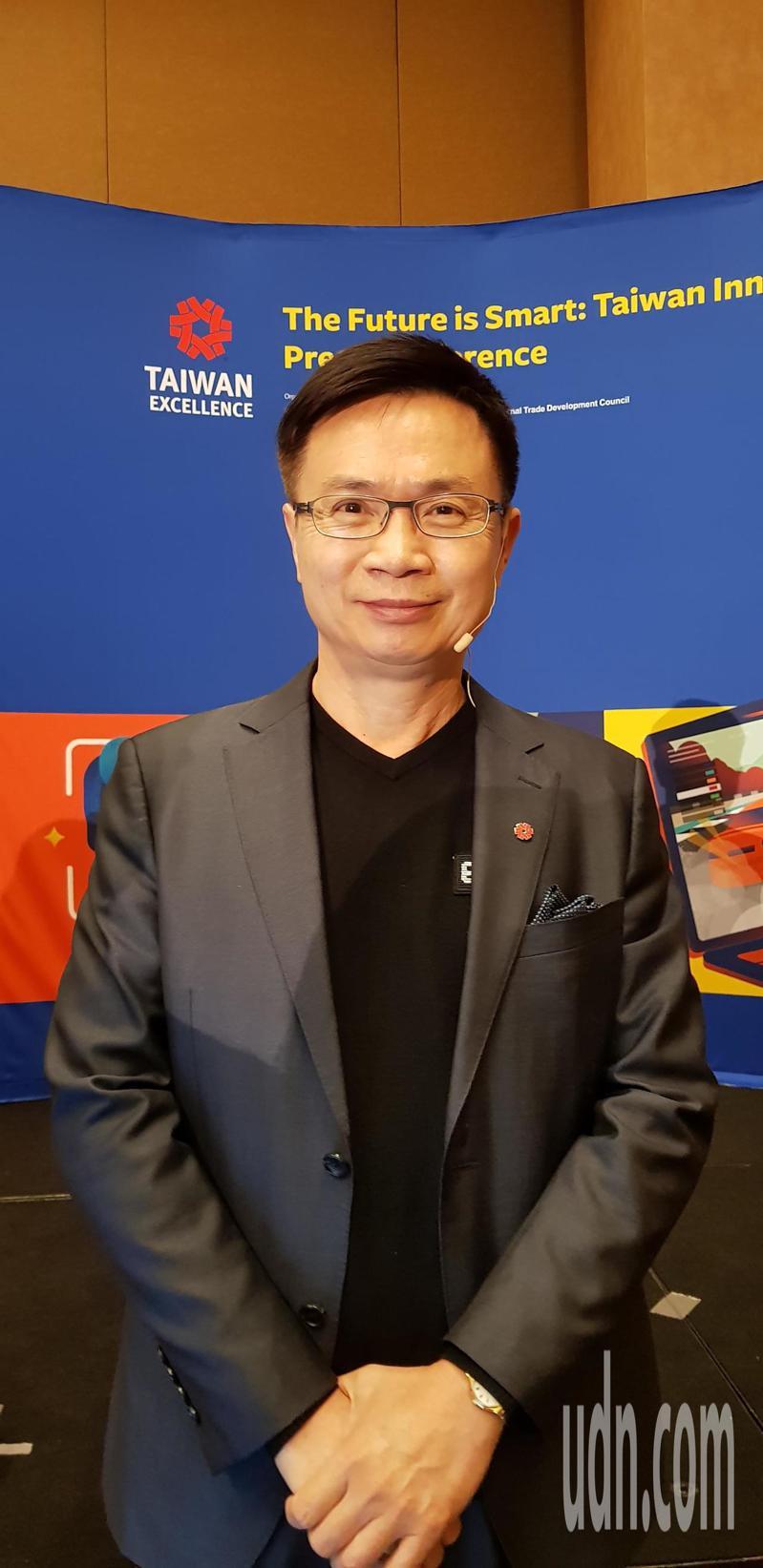 外貿協會董事長黃志芳。記者鄒秀明/攝影