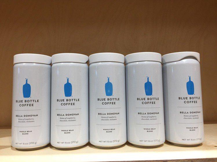 藍瓶咖啡確定快閃微風南山,沒有手沖、只賣罐裝咖啡。圖/記者羅建怡攝影