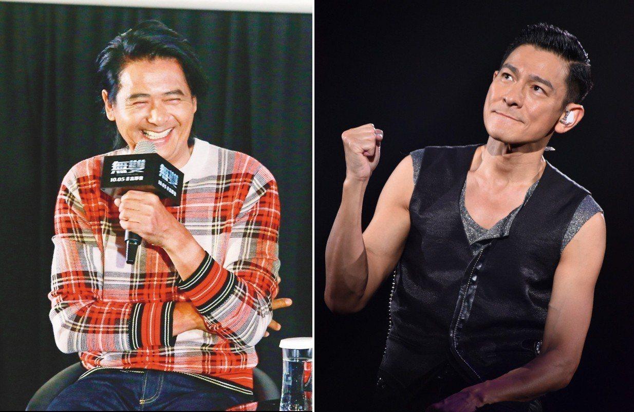 高雄市觀光局確定今年3、4月將全力向香港行銷高雄觀光,傳擬邀藝人劉德華(右)、周...