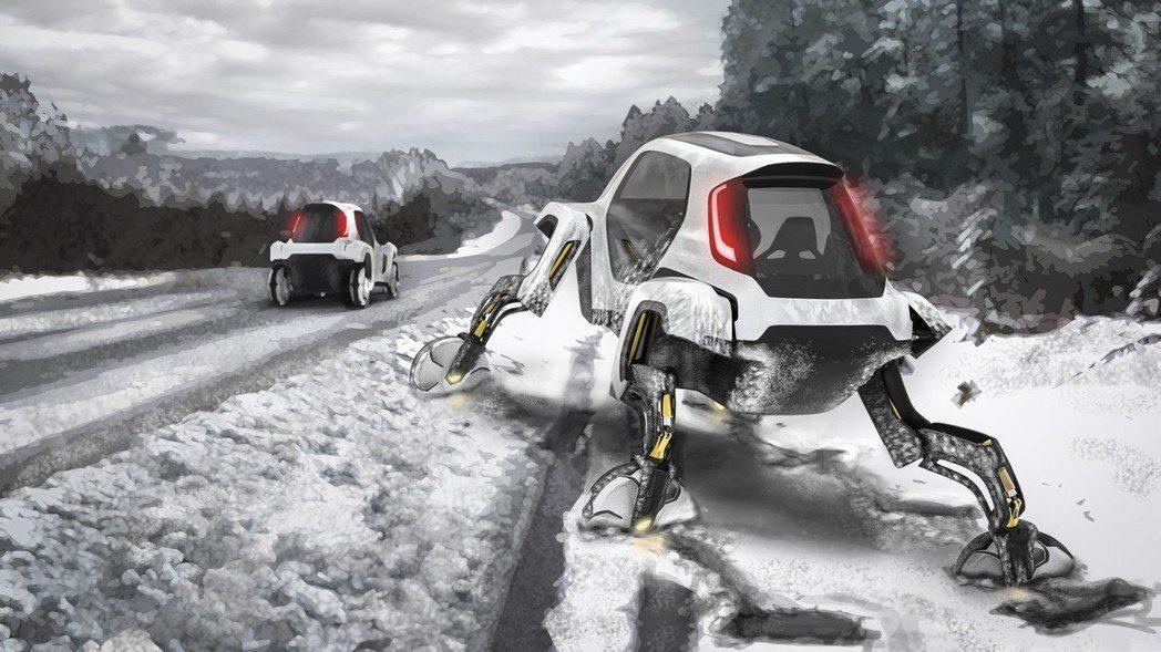 Hyundai Elevate也可用來災害救助,更能行駛在危險的地形。 摘自Hy...