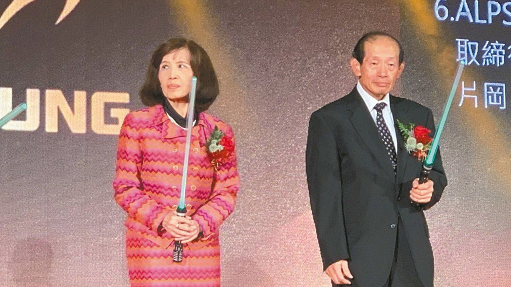大同董事長林郭文艷(左)、前大同董事長/華映董事長林蔚山。 報系資料照