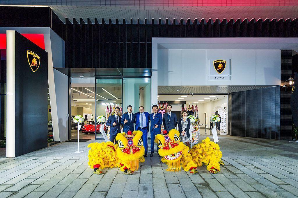 Lamborghini臺灣總代理嘉鎷興業,宣布臺中全新展示暨服務中心正式開幕營運。 圖/Lamborghini Taipei提供