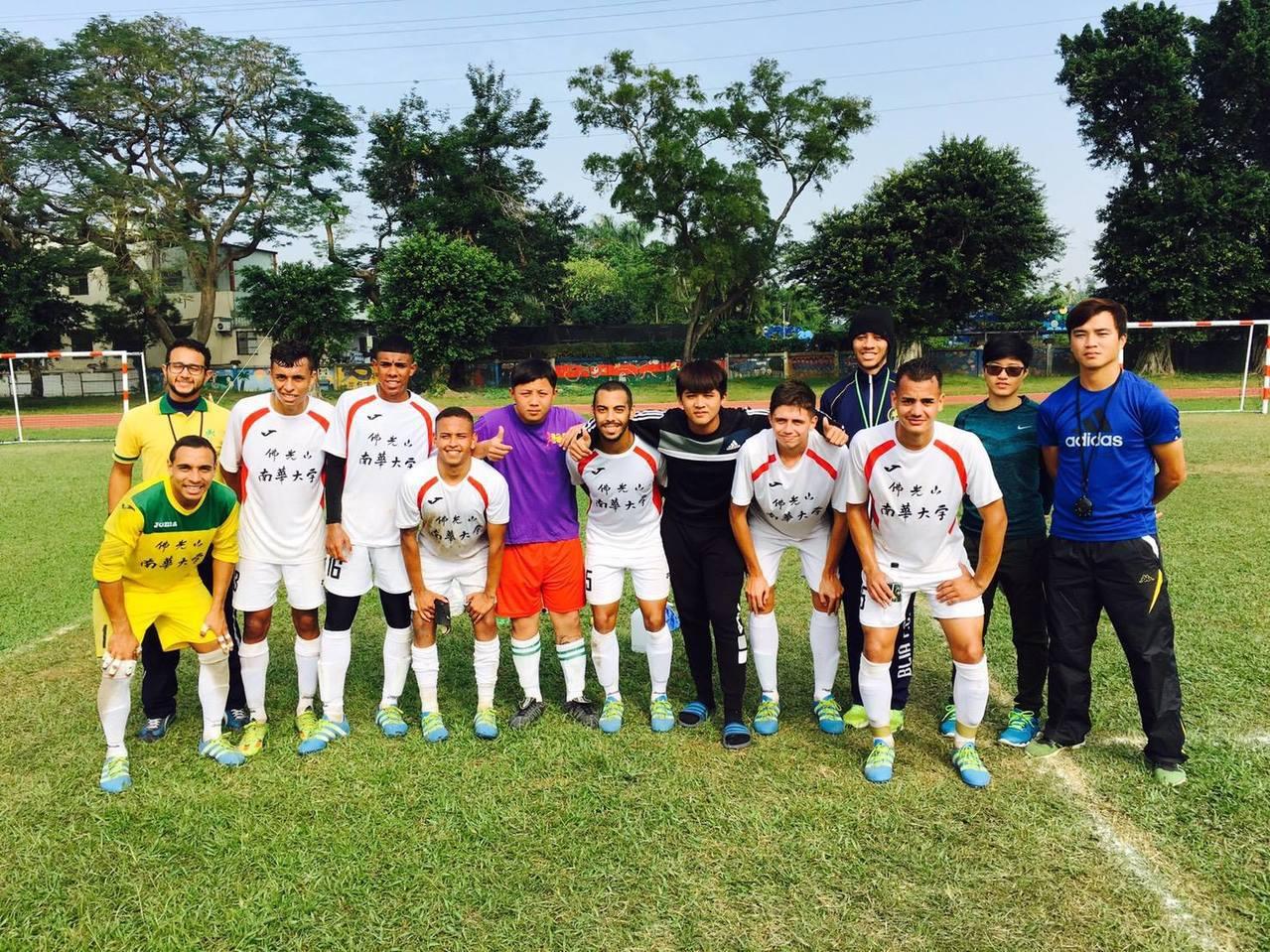 圖為南華大學足球隊。 圖/取自南華大學體育中心暨運動與健康促進學程