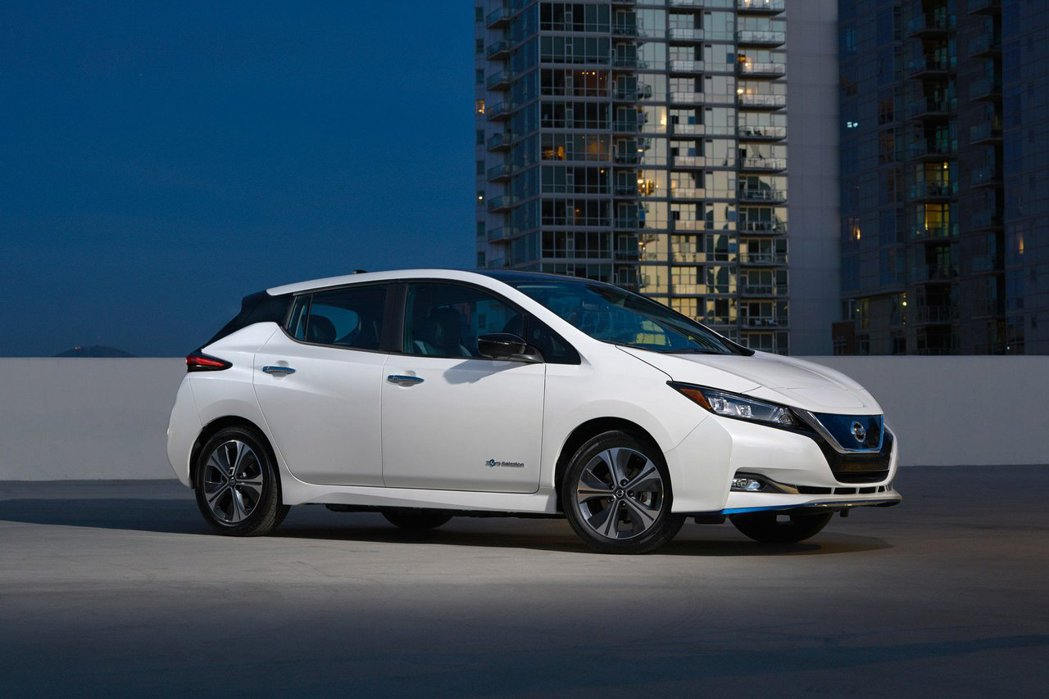 全新Nissan Leaf e+在2019 CES消費性電子展上發表。 摘自Ni...