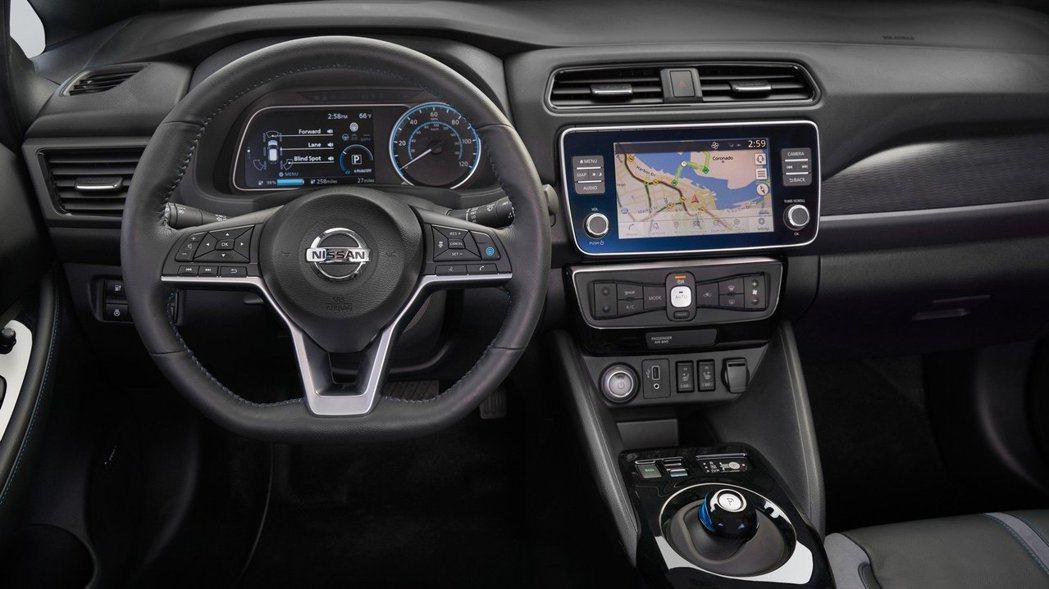 Nissan Leaf e+ 內裝。 摘自Nissan