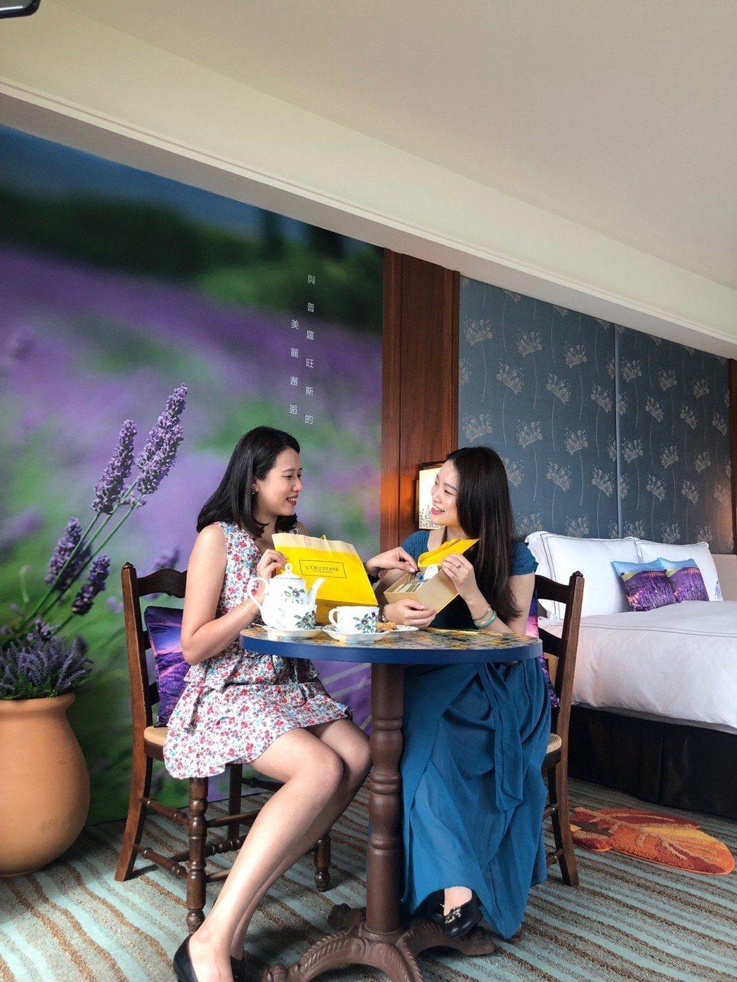 「普羅旺斯海景花園主題房」充滿浪漫氛圍。淡水福容/提供