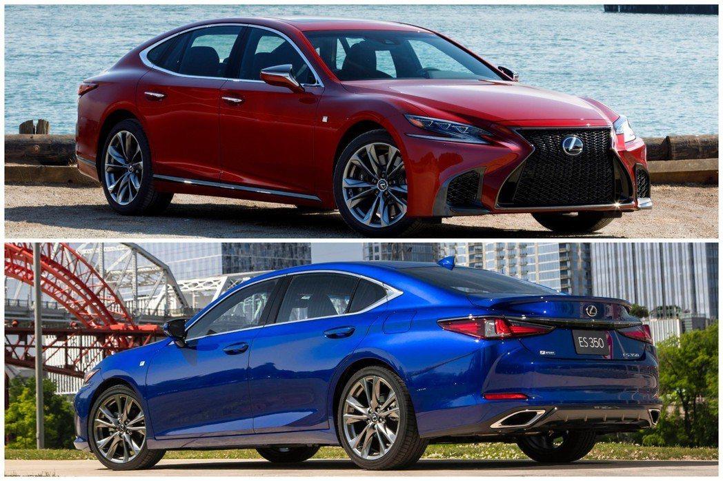 新世代Lexus LS車系在去年於北美市場的銷量大幅提升,但同樣身為大改款式樣的ES車系,也許是因為未經過一個完整銷售年,消費者在新、舊車款間躊躇不定,因此出現銷量負成長的情況。圖皆為美規車型。 摘自Lexus