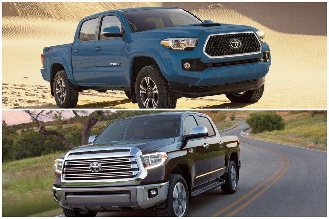 Toyota的皮卡車款去年在北美亦有著不錯的銷量數字。 摘自Toyota