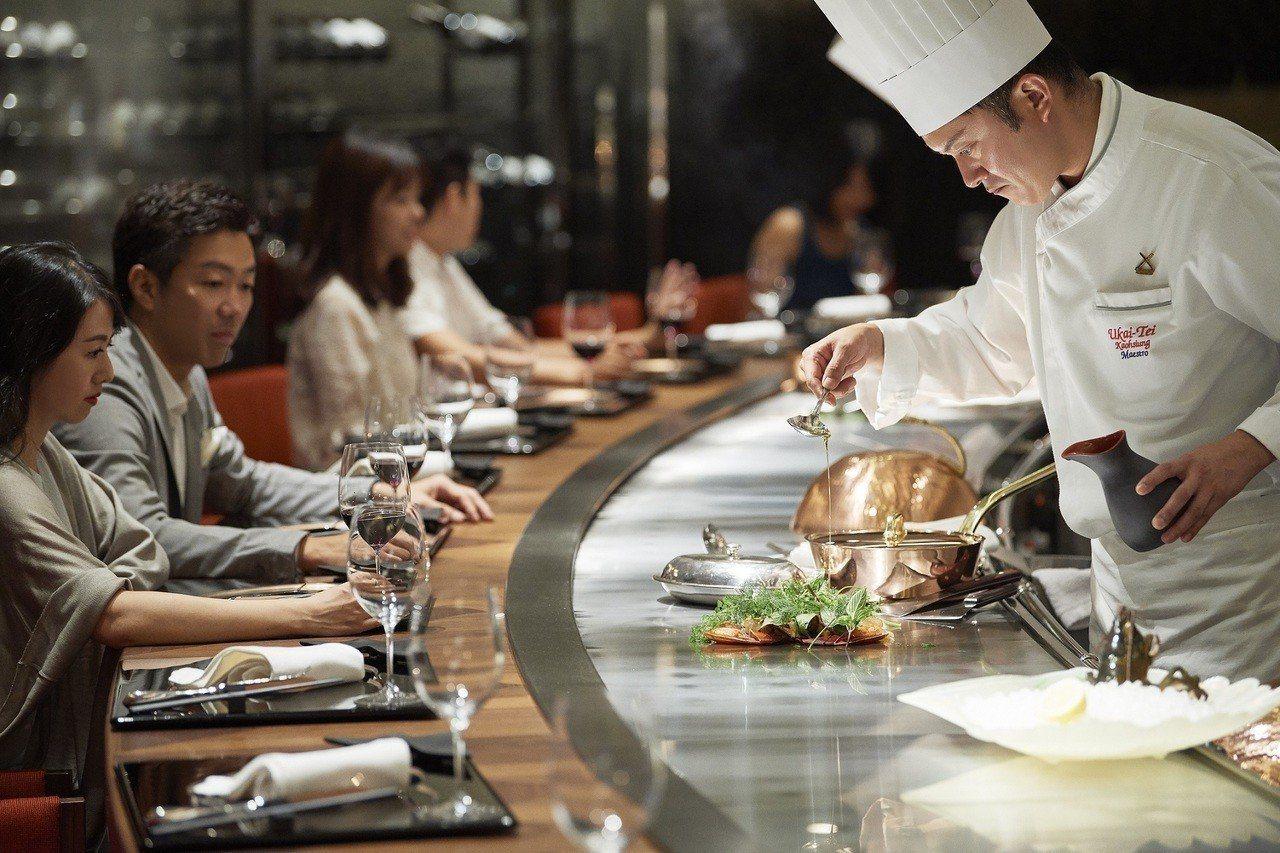 日本重量級餐酒品牌「Ukai-Tei」鐵板燒確定進駐。圖/微風提供