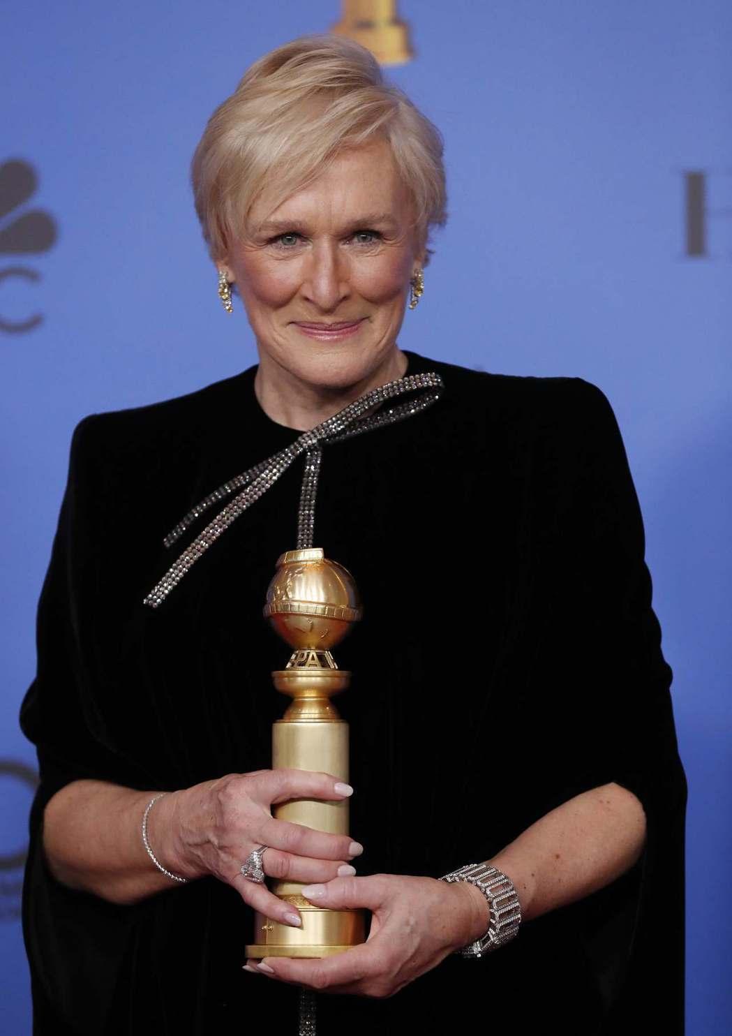 葛倫克蘿絲在金球獎上勝出,爭取在奧斯卡上終結摃龜悲情。圖/路透資料照片