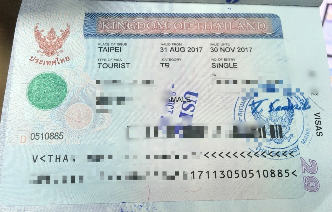 泰國簽證。圖/報系資料照