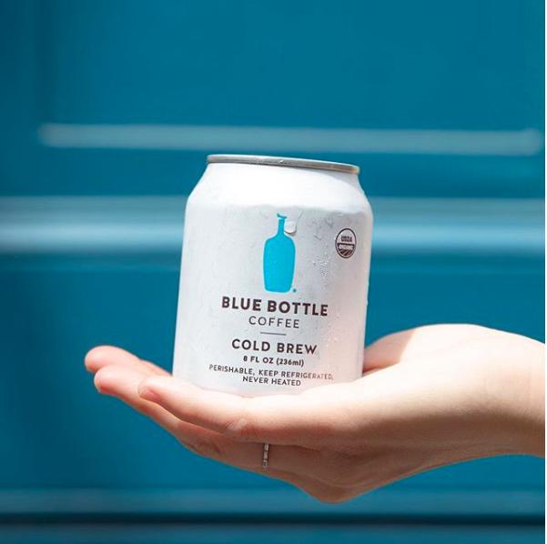 罐裝冷萃有機咖啡6入一組售價1,500元。圖/摘自IG@bluebottleja...