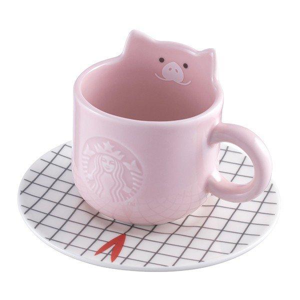 豬年吉祥杯盤組,售價550元。圖/星巴克提供