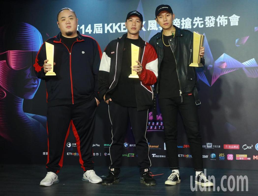 頑童MJ116奪下第十四屆KKBOX年度風雲歌手。記者黃義書/攝影