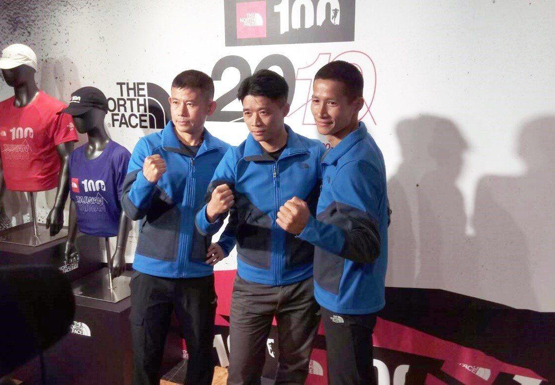 2019TNF100黃金教練團陳仲仁、黃崇華、劉治昀(左至右)。圖/記者林宋以情...