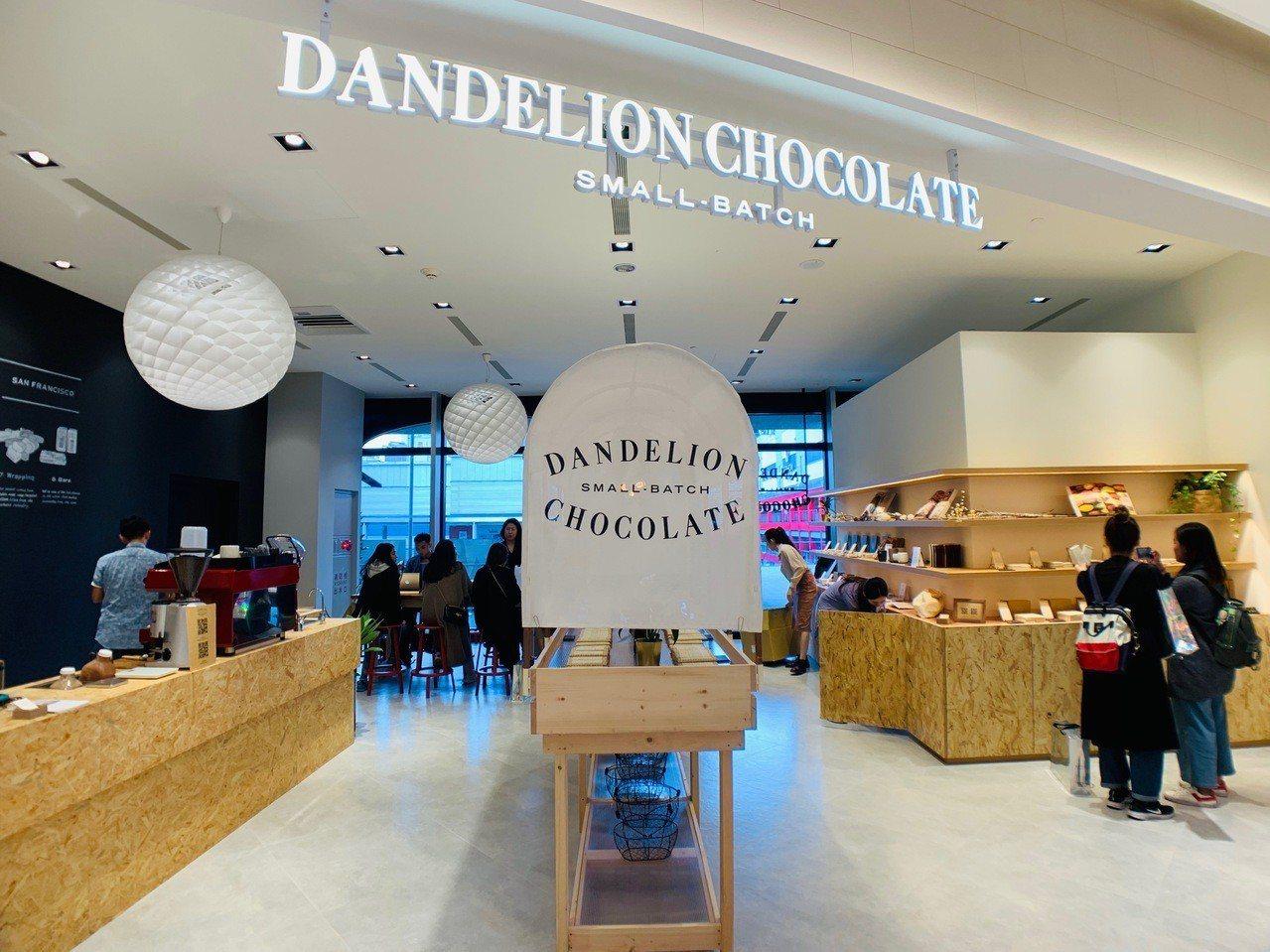 Dandelion Chocolate微風南山門市。記者張芳瑜/攝影