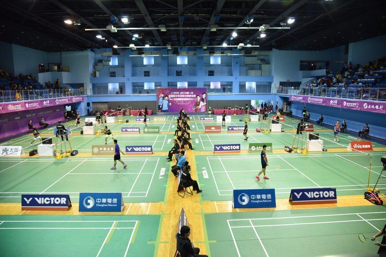 首度舉行的全國青少年羽球分齡排名賽今天在台北體育館登場。圖/中華羽協提供