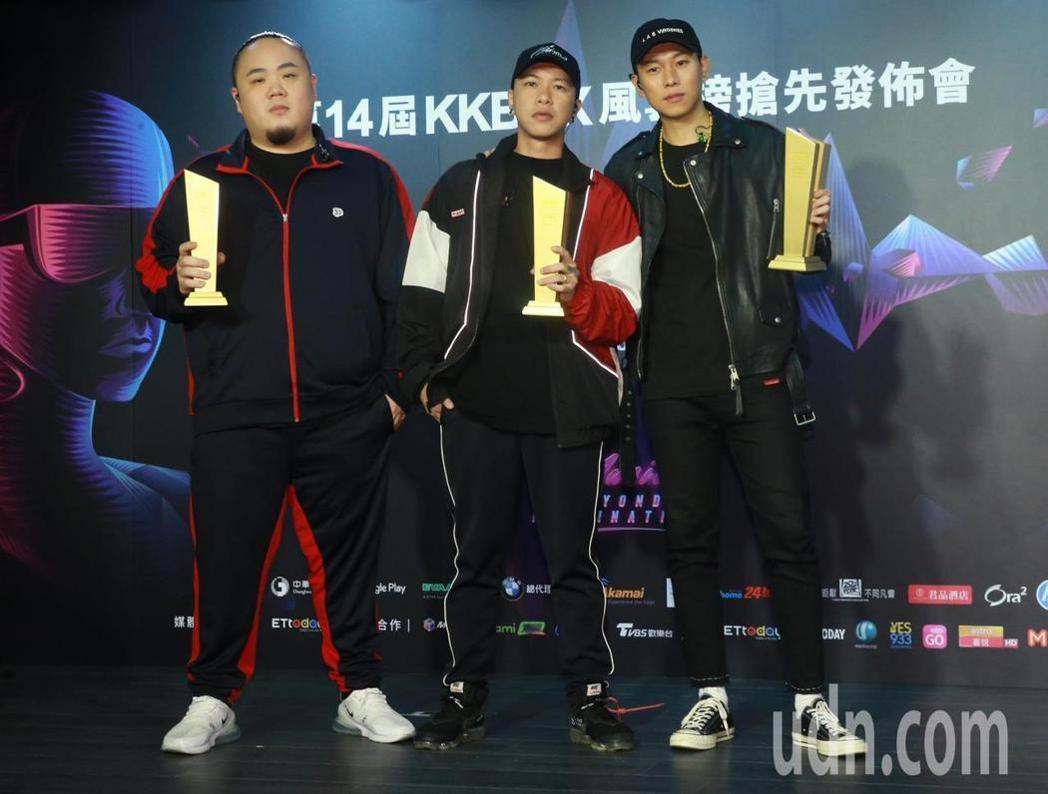 頑童MJ116奪下第14屆KKBOX年度風雲歌手。記者黃義書/攝影