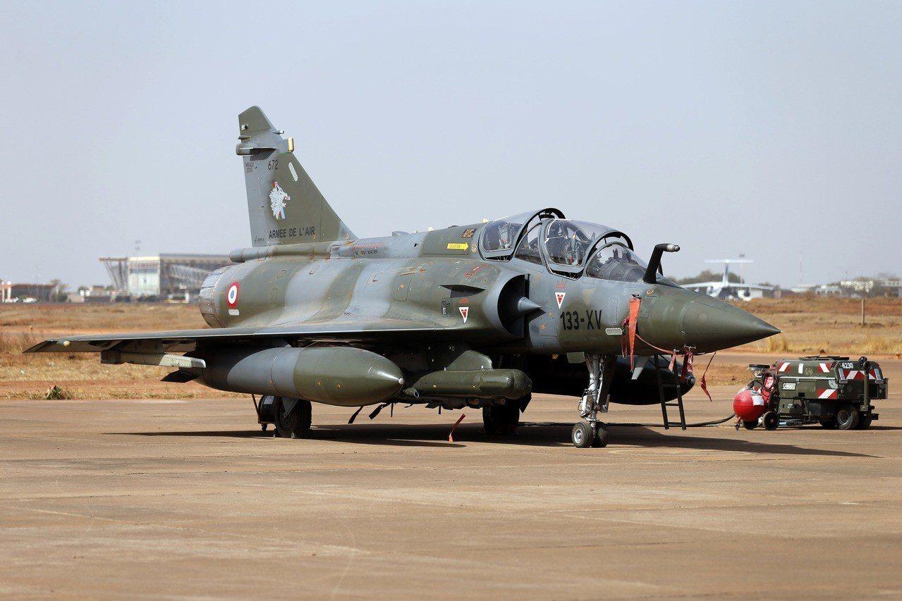 法國幻象2000D型戰機。路透