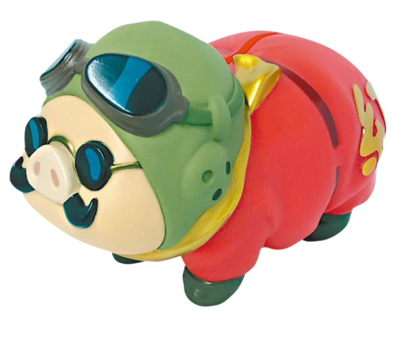 限時「紅豬」撲滿加觀展門票乙張,千元就能入手。 圖/聯合數位文創提供