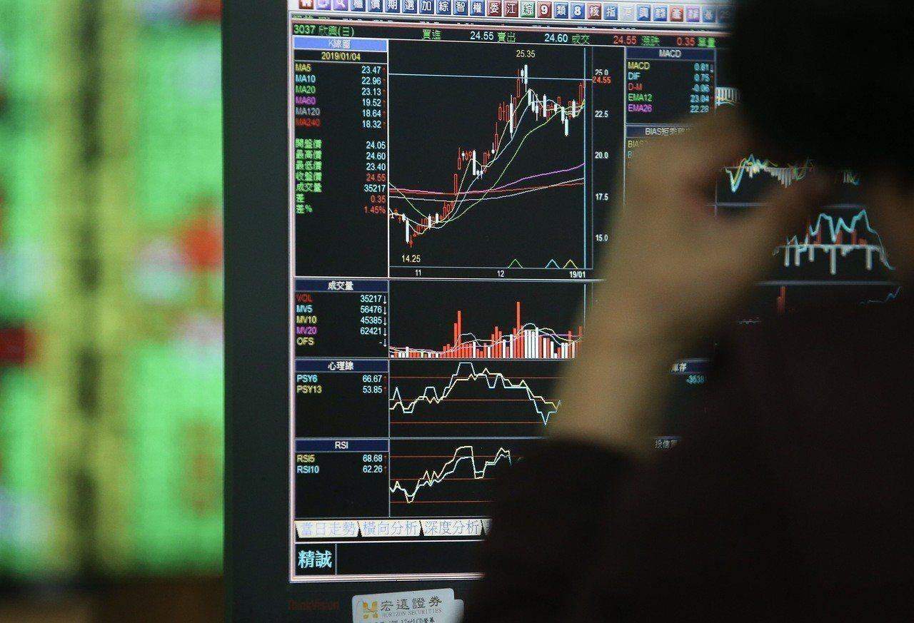 台股昨上漲逾百點,刷寫今年新高點,並將開年來負報酬轉正。 聯合報系資料照/記者余...
