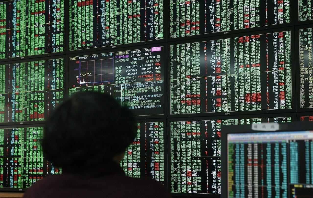2019年伊始,台股曾大跌逾百點。 聯合報系資料照/記者余承翰攝影