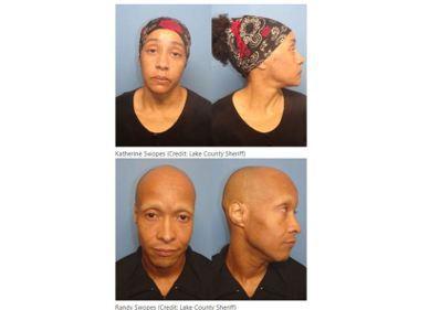 斯沃普斯(下)和妻子凱瑟琳(上)把10歲女兒關在地下室,被控危害兒童罪及非法拘禁...