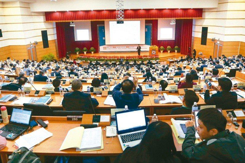 全國大學校長會議上午在台中中興大學舉行。 記者黃仲裕/攝影