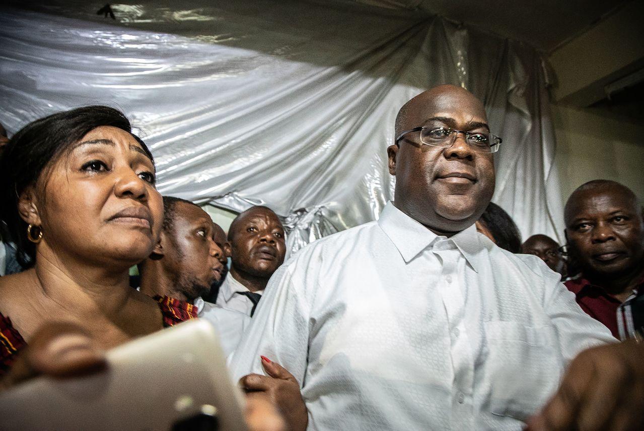 剛果反對黨候選人齊塞克迪(Felix Tshisekedi)宣佈勝選總統。 法新...