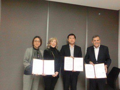 元培、華碩健康與西班牙MYSPHERA公司簽署策略聯盟合約(右1為MYSPH...