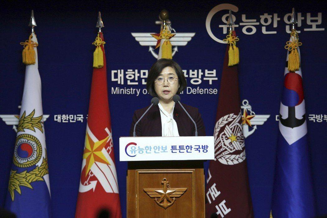 南韓國防部發言人崔賢洙在記者會上強調,南韓軍方所採取的行動,都是為了進行正常的海...