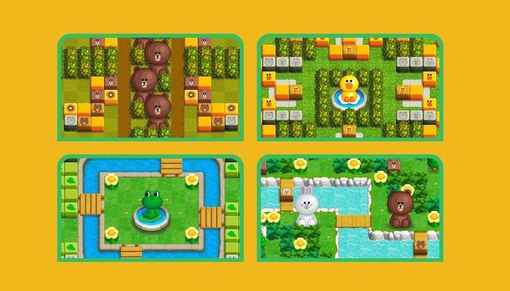 此次同步開放四張全新地圖,每張地圖皆以LINE FRIENDS的人氣角色為主題,...