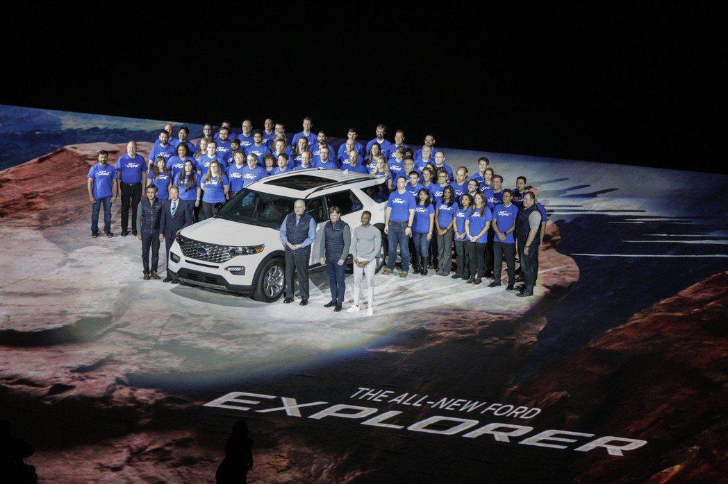 第六代Ford Explorer已於底特律正式亮相。 摘自Ford