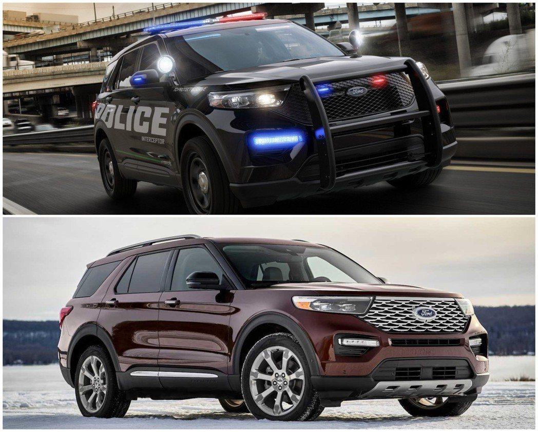 第六代Ford Explorer在發表前,已先透過美國警車悄悄露臉。 摘自Ford