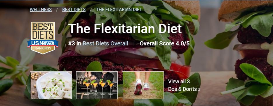 彈性素食飲食(The Flexitarian Diet) 圖片截自「美國新聞與世...