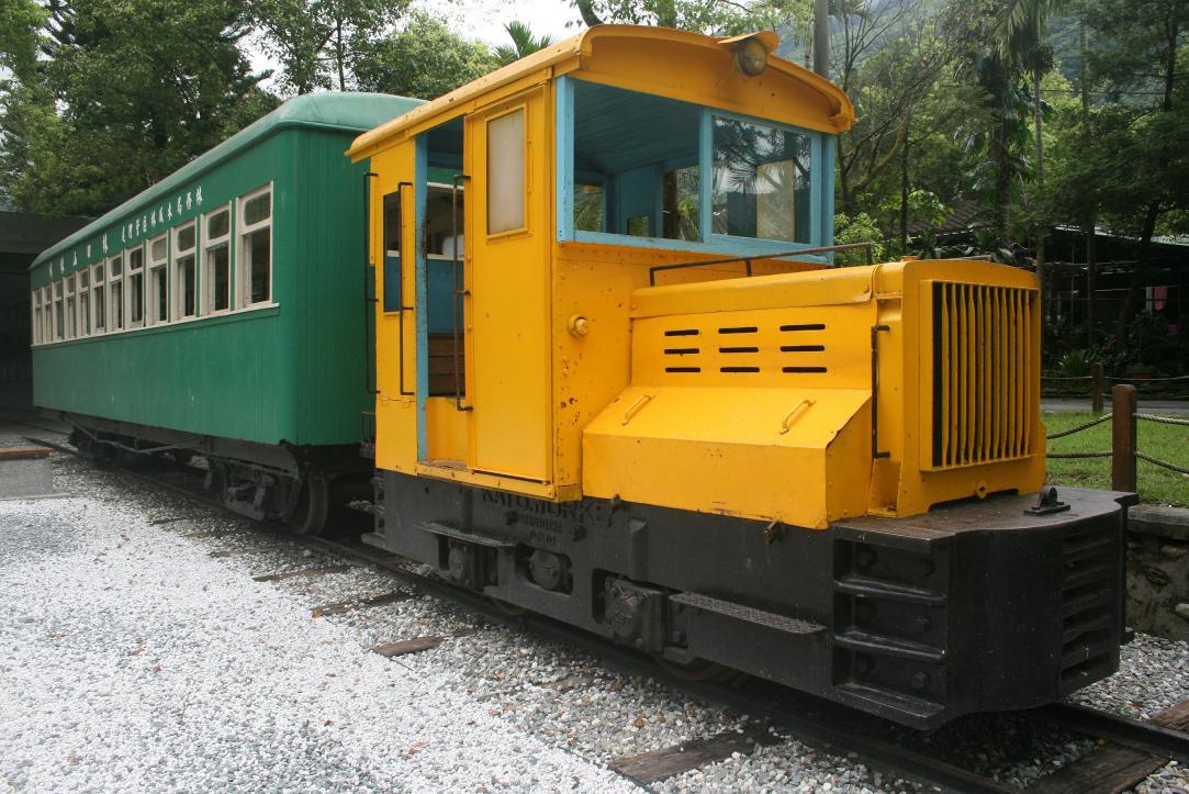花蓮林田山林業文化園區展示的機關車。圖/花蓮林區管理處提供