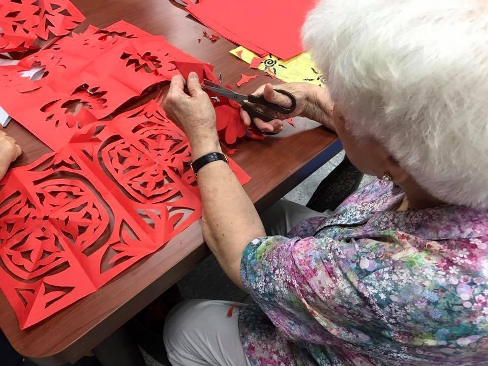2019年歡樂宜蘭年系列活動的剪窗花,很有傳統復古風。